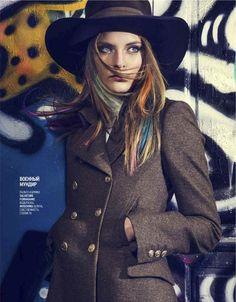 Salvatore Ferragamo + Moschino.    Elyse Saunders for September 2012 issue of Marie Claire Russia. Shot by Mikael Schulz.