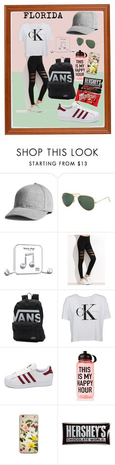 """Untitled #59"" by floridanuha ❤ liked on Polyvore featuring Ray-Ban, Happy Plugs, Vans, Calvin Klein, adidas, Ankit and Hershey's"