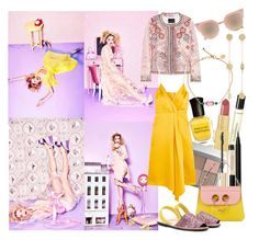 """""""In Lalaland: Yellow Dresses"""" by brownish ❤ liked on Polyvore featuring Byredo, Arme De L'Amour, AERIN, Deborah Lippmann, Bobbi Brown Cosmetics, Kevyn Aucoin, NARS Cosmetics, Isabel Marant, Fendi and Victoria Beckham"""