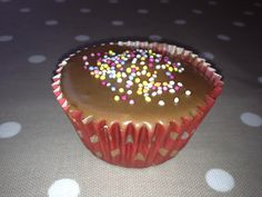 A birthday cup cake