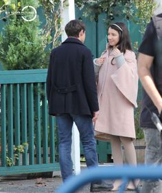 """Olivia Steele and Jared Gilmore - Behind the scenes - 5 * 23 """"An Untold Story"""" - 29 March 2016 Ouat, Jared Gilmore, Young Love, Captain Hook, Emma Swan, Best Shows Ever, Once Upon A Time, Favorite Tv Shows, Behind The Scenes"""