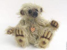 Купить Мишка тедди  Лохматушкин (18 см) - мишка, мишка тедди, мишка ручной работы