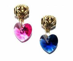 Zawieszka Charm Modułowa Serce Swarovski Crystallized Heart. 25 Kolorów #Swarovski #jewelry #bizuteria