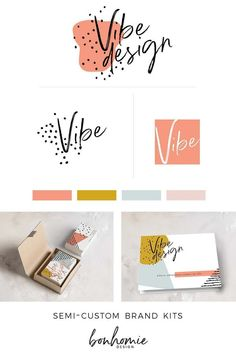 hip modern abstract branding for your business! semi-custom design sold only once and ready for you in 10 days! Logo And Identity, Brand Identity Design, Logo Branding, Visual Identity, Artist Branding, Personal Identity, Personal Logo, Restaurant Branding, Graphic Design Branding