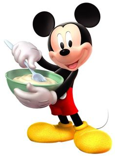 Disney Mickey is making a cake for his Minnie Arte Do Mickey Mouse, Mickey Love, Classic Mickey Mouse, Mickey Mouse And Friends, Mickey Mouse Birthday, Disney Mickey Mouse, Disney Theme, Disney Art, Cute Disney