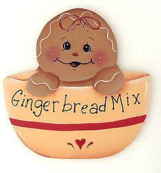 HP GINGERBREAD FRIDGE MAGNET gingerbread mix