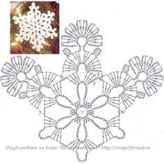 """Képtalálat a következőre: """"crochet snowflakes free patterns"""" Crochet Snowflake Pattern, Crochet Stars, Crochet Motifs, Crochet Snowflakes, Doily Patterns, Crochet Doilies, Crochet Flowers, Crochet Christmas Ornaments, Christmas Crochet Patterns"""