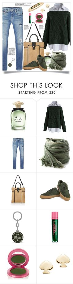 """""""Sans titre #262"""" by spica-caracterielle ❤ liked on Polyvore featuring Dolce&Gabbana, Chicwish, Tommy Hilfiger, Maison Mayle, Mulberry, Lipstick Queen, Kate Spade and Rachel Rachel Roy"""