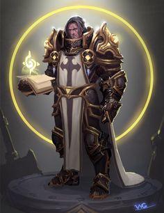 Crusader by Da Guo on Artstation. Fantasy Character Design, Character Inspiration, Character Art, Fantasy Armor, Medieval Fantasy, Dnd Characters, Fantasy Characters, Warcraft Art, Knight Art