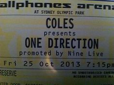 THIS AUCTION IS FOR ALL 4 ONE DIRECTION TICKETS IN SYDNEY OCTOBER 25th. You can thank my daughters self righteous and lippy attitude for their sale. See sweety? And you thought I was bluffing. I hope the scowl on your bitchy little friends faces when you tell them that your dad and i revoked the gift we were giving you all reminds you that your PARENTS are the ones that deserve love and respect more than anyone....