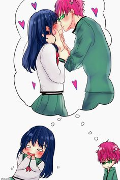 Saiki kusuo x teruhashi kokomi - saiki kusuo no ψ nan Manga Anime, Fanarts Anime, Hot Anime Guys, Anime Love, Best Comedy Anime, Psi Nan, Smile Drawing, Anime Ships, Awesome Anime