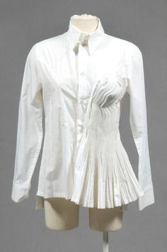 yamamoto white button up shirt