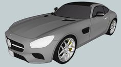Large preview of 3D Model of 2016 Mercedes-AMG GT (Low Poly)