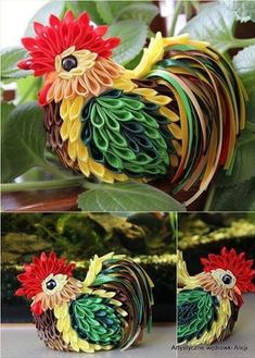 embroidery paper Новости More - Quilling Animals, Quilling Paper Craft, Paper Quilling, Paper Crafts, Ribbon Art, Ribbon Crafts, Flower Crafts, Cloth Flowers, Diy Flowers