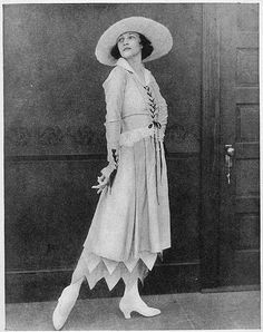 Irene Castle (Mrs. Vernon Castle) in Summer Afternoon Costume, from Woman as Decoration by Emily Burbank, New York, Dodd, Mead and Company, 1917.