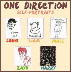 One Direction's self portraits.♥