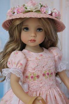 OOAK-Smocked-Dress-Ensemble-for-Effner-13-Little-Darling-Dolls-by-DHD