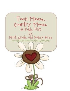 """Great Fable unit for """"Town Mouse, Country Mouse."""" Matches 1st grade common core."""