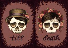 Skull Wedding Couple