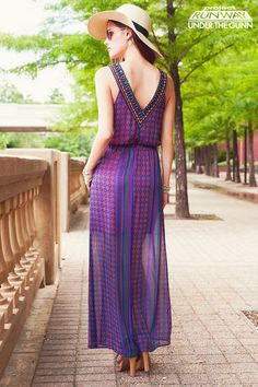 Free Spirited Embellished Maxi Dress by Oscar Garcia-Lopez