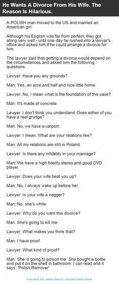 He Wants A Divorce From His Wife. The Reason Is Hilarious. | Alltopics