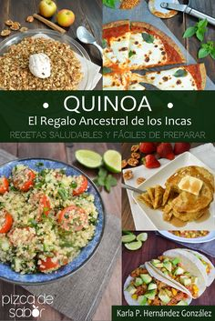 """Probadita de mi primer libro de cocina, """"Quinoa, El Regalo Ancestral de los Incas"""". Recetas saludables y fáciles de preparar. www.pizcadesabor.com"""