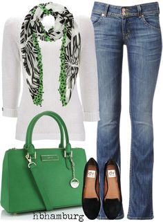 "Lovin' the bag and scarf for springtime pop of color!    ""No. 184 - Happy sunday !"" by hbhamburg on Polyvore"