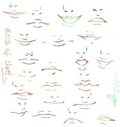 Human Head Sheet by Hoelho on DeviantArt - Mund Zeichnen Anime Mouth Drawing, Guy Drawing, Drawing People, Drawing Sketches, Art Drawings, Sketch Mouth, Lips Sketch, Anime Face Shapes, Boca Anime