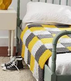 Gray and Yellow Patchwork BlanketGray and Yellow Patchwork Blanket...like the pattern, not the colors