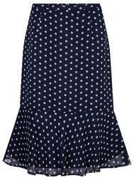 Navy and white polka dot skirt Blouse And Skirt, Dress Skirt, Stylish Outfits, Fashion Outfits, African Print Skirt, African Wear, African Fashion Dresses, Skirt Outfits, Chiffon Dress