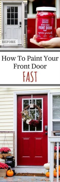 Front Door Makeover Using Modern Master's Front Door Paint