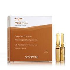 C-Vit Intensive Sérum de Sesderma es un auténtico tratamiento de choque para pieles secas y envejecidas, fatigadas, faltas de luminosidad. Válido para todo tipo de pieles, regenera la matriz extracelular, reafirmando la piel y dotándola de más tersur...