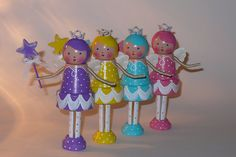 Purple Fairy Ballerina Clothespin Doll by creatingfromtheheart by lucia Flower Pot Crafts, Clay Pot Crafts, Doll Crafts, Clothespin Art, Wood Peg Dolls, Painted Clay Pots, Tiny Dolls, Wooden Pegs, Little Doll