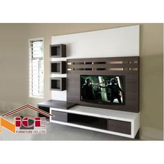 Lcd Unit Design, Lcd Panel Design, Wall Unit Designs, Living Room Tv Unit Designs, Tv Cabinet Design, Tv Wall Design, White Tv Unit, Lcd Units, Tv Unit Decor