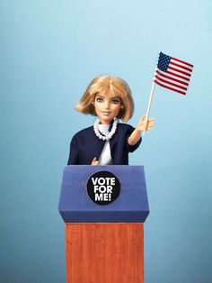Human interest in JAN Magazine Photography by Frank Brandwijk | 'Vote for ME' 'Barbie for US Elections'