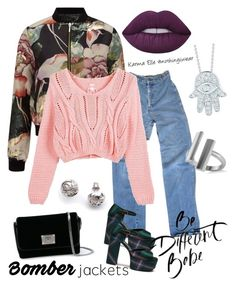 """""""Floral x Denim"""" by karmaelle on Polyvore featuring Miss Selfridge, Levi's, Mulberry, Jimmy Choo, Lime Crime, Roberto Coin, Kasun and Allurez"""