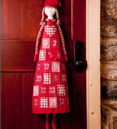 Cotton Advent Calendar Doll