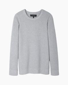 Grey Oversized Sweater by Rag and Bone. Buy for $137 from La Garçonne