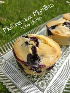 Muffins aux Myrtilles_sans gluten Sans Gluten Sans Lactose, Biscuits, Breakfast, Food, Gluten Free Blueberry, Rice Flour, Cooking Recipes, Face Powder, Almond