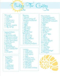 I will go on a cruise soon! Great packing list because I always forget something