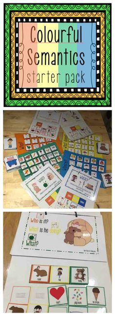 The questions asked about each picture gives more information about the picture and help them grasp a better understanding of it. Learning Goals, Early Learning, Speech Language Pathology, Speech And Language, Wh Questions, This Or That Questions, Colourful Semantics, Word Order, Sentence Building