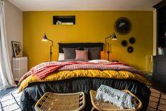 Simple prev with edredon lin. excellent prev with edredon lin. Bedroom Colors, Bedroom Decor, Bedroom Ideas, Bedroom Girls, Mustard Bedroom, White Wall Bedroom, Bedroom Yellow, My New Room, Interior Design Living Room