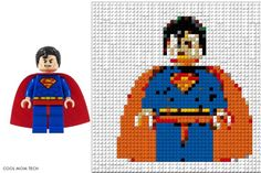 Awesome site to turn any picture into a LEGO portrait - plus clear instructions to make it for real out of bricks