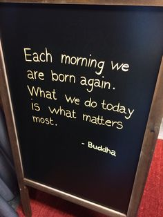 Each morning we are born Again #horeca #terrasbord #krijtbord