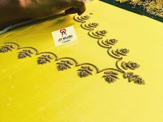 For customising your outfits - DM us / whatsapp 9133502232 . Hand Embroidery Designs, Beaded Embroidery, Embroidery Patterns, Maggam Work Designs, Kurta Neck Design, Green Midi Dress, Bridal Blouse Designs, Work Blouse, Blouse Patterns