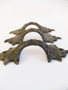 3 Antique Iron Drawer Handles  Victorian  by UrbanRenewalDesigns, $58.00