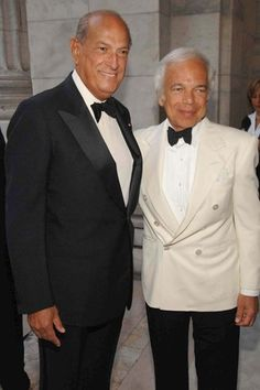 Oscar de la Renta and Ralph Lauren WWD 2007 Photo by Steve Eichner