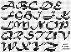 Cool cross-stitch font