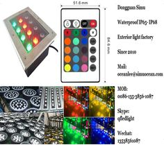 Smart RGB 12 w wireless remote control concrete floor lights from Dongguan simu hardware lighting co,ltd. Auto change color or RF remote control color change or infrared control Smart color change or Wifi control or DMX Control led outdoor lighting