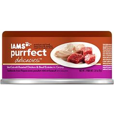 IAMS PURRFECT DELICACIES Select Cuts Roasted Chicken  Beef Canned Cat Food 247 oz Pack of 24 >>> Click on the image for additional details.Note:It is affiliate link to Amazon.